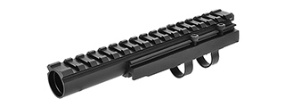 LCT AIRSOFT AK SERIES AEG 20MM FORWARD OPTICAL RAIL SYSTEM - BLACK