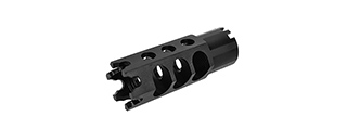 LCT AIRSOFT HEXAGON 24MM CW FULL METAL FLASH HIDER FOR LCT AK-74U AEG