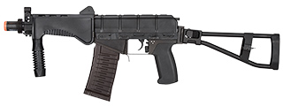 LCT AIRSOFT SR-3M VIKHR ASSAULT RIFLE w/ FOLDABLE FOREGRIP (BK)