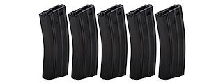 LT-01B-MAG-G2X5 HIGH CAPACITY 300RD METAL AEG GEN 2 MAGAZINE, SET OF 5 (BK)