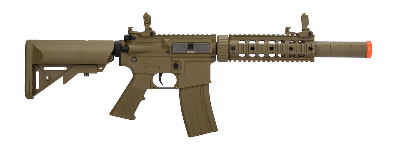 LT-15T-G2 AIRSOFT POLYMER M4 GEN 2 SD AEG RIFLE (TAN) - Click Image to Close