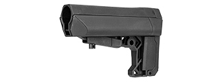 LT-18STOCK RETRACTABLE LT-18 STOCK FOR M4 AIRSOFT AEGS (BLACK)