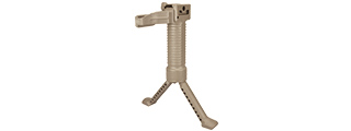 SG-01D-T TACTICAL BIPOD GRIP WITH SINGLE RAIL GRIP POD SYSTEM (TAN)