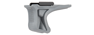 SG-GR5-GR LOW PROFILE ANGLED GRIP W/ 20MM RAIL MOUNT (GRAY)