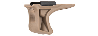 SG-GR5-T LOW PROFILE ANGLED GRIP W/ 20MM RAIL MOUNT (TAN)