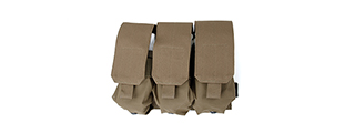 AMA AIRSOFT TACTICAL TRIPLE MAGAZINE POUCH - COYOTE BROWN