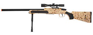 ZM51C MK51 SPRING BOLT ACTION AIRSOFT RIFLE W/ SCOPE (DESERT DIGITAL)
