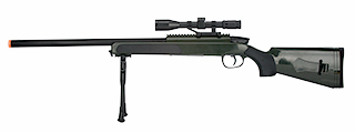 ZM51G MK51 SPRING BOLT ACTION AIRSOFT RIFLE W/ SCOPE (OD GREEN)