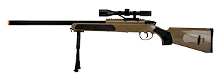 ZM51T MK51 SPRING BOLT ACTION AIRSOFT RIFLE W/ SCOPE (TAN)