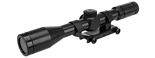 ZM52 AIRSOFT PLASTIC MK96 SCOPE W/ RAIL MOUNT (BLACK)