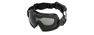 G-Force Full Seal Airsoft Goggles w/ Built-In Fan [Clear Lens] (BLACK)