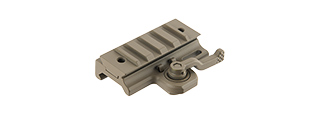 ATLAS CUSTOM WORKS 20MM PICATINNY THROW MOUNT LEVER FOR DOVETAIL RAILS (TAN)