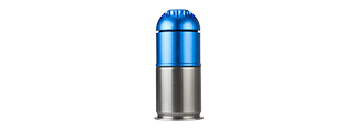 ATLAS CUSTOM WORKS AIRSOFT 96 ROUND GRENADE SHELL (BLUE / SILVER)