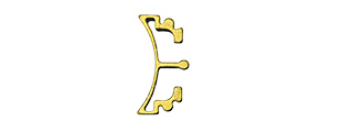 AIRSOFT MASTERPIECE ALUMINUM PUZZLE FRONT CURVE LONG TRIGGER (GOLD)