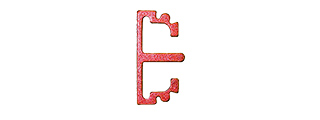 AIRSOFT MASTERPIECE ALUMINUM PUZZLE FRONT FLAT LONG TRIGGER (RED)