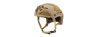 Lancer Tactical MT Helmet w / Side Rails and Shroud (TAN)