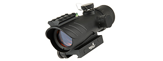 LANCER TACTICAL ENCLOSED RED DOT SIGHT W/ TOP OPTIC RAIL (BLACK)