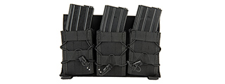 LANCER TACTICAL ADAPTIVE HOOK AND LOOP TRIPLE AR MAG POUCH (BLACK)