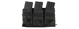 LANCER TACTICAL 1000D NYLON MOLLE TRIPLE AR MAG POUCH (BLACK)