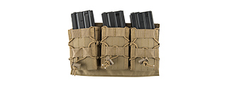 LANCER TACTICAL 1000D NYLON MOLLE TRIPLE AR MAG POUCH (TAN)