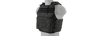 LANCER TACTICAL BATTLE 1000D NYLON MOLLE PLATE CARRIER (BLACK)