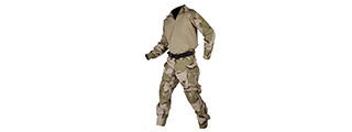 LANCER TACTICAL COMBAT TACTICAL UNIFORM SET (TRI DESERT-MEDIUM)