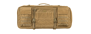 "LANCER TACTICAL 1000D NYLON 3-WAY CARRY 29"" DOUBLE RIFLE GUN BAG (KHAKI)"