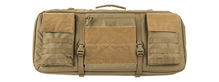 "LANCER TACTICAL 1000D NYLON 3-WAY CARRY 29"" DOUBLE RIFLE GUN BAG (TAN)"