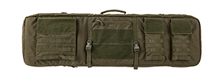 "LANCER TACTICAL 1000D NYLON 3-WAY CARRY 43"" DOUBLE RIFLE GUN BAG (OD GREEN)"