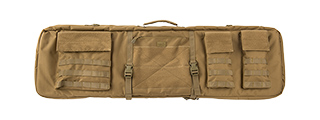 "LANCER TACTICAL 1000D NYLON 3-WAY CARRY 43"" DOUBLE RIFLE GUN BAG (KHAKI)"