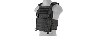 LANCER TACTICAL BUCKLE UP VERSION AIRSOFT PLATE CARRIER (BLACK)