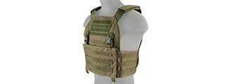 LANCER TACTICAL BUCKLE UP VERSION AIRSOFT PLATE CARRIER (OD GREEN)
