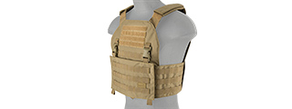 LANCER TACTICAL BUCKLE UP VERSION AIRSOFT PLATE CARRIER (TAN)