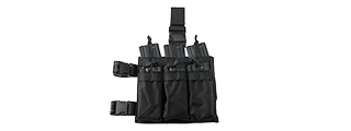 LANCER TACTICAL DROP LEG SIX M4/M16 MAGAZINE PANEL (BLACK)