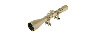 LANCER TACTICAL 3 - 9 X 40 RIFLE SCOPE W/ RINGS (TAN)