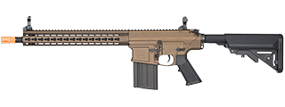 "CLASSIC ARMY ARS2 13"" KEYMOD FULL METAL SR25 AEG RIFLE (DARK BRONZE)"