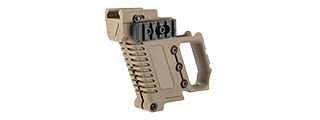 LANCER TACTICAL PISTOL CARBINE KIT FOR G-SERIES TYPE GBB PISTOLS (TAN)