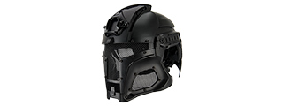 Interstellar Battle Trooper Full Face Airsoft Helmet (BLACK)