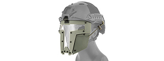 T-SHAPED WINDOWED ATTACHMENT FACE MASK FOR FAST/BUMP HELMETS (GRAY)