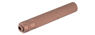 LANCER TACTICAL 195MM ALUMINUM KNURLED MOCK SUPPRESSOR (COYOTE BROWN)