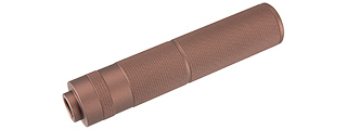 LANCER TACTICAL 155MM ALUMINUM KNURLED MOCK SUPPRESSOR (COYOTE BROWN)