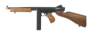 CYBERGUN FULL METAL GEARBOX THOMPSON M1A1 AIRSOFT AEG RIFLE (FAUX WOOD)