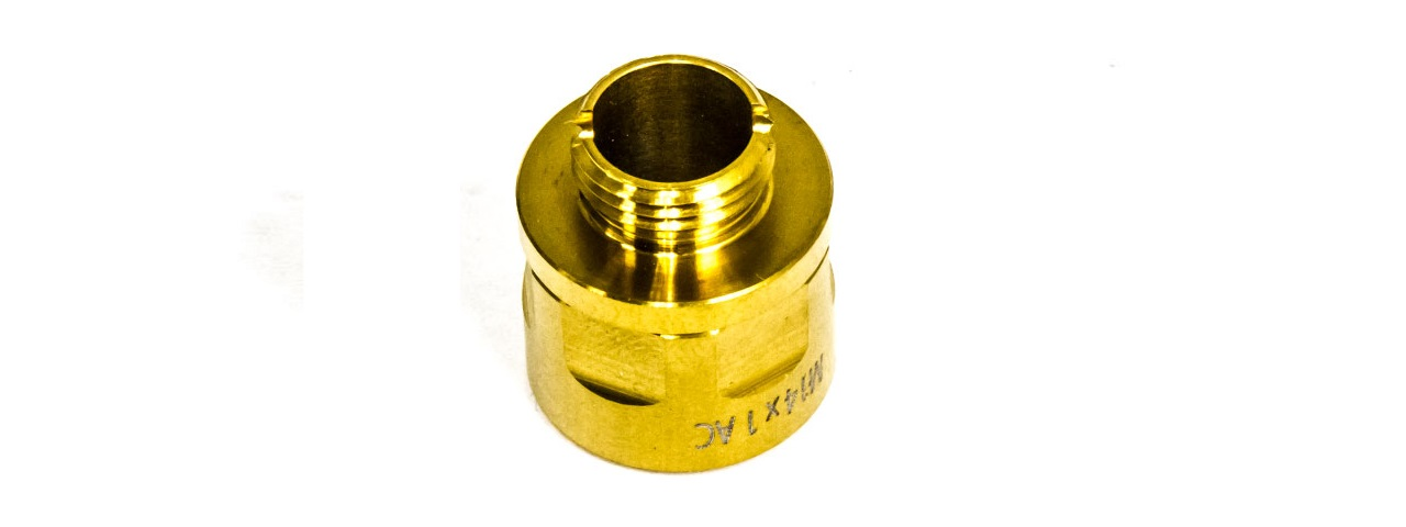 COWCOW A01 STAINLESS STEEL SILENCER ADAPTOR (GOLD)