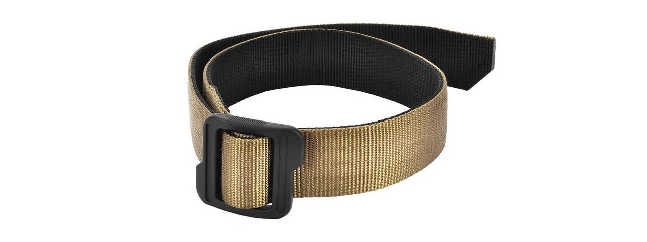 Cytac Nylon Tactical Belt w/ Polymer Slide Adjuster [LARGE] (TAN)