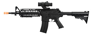D2810 M4 S-SYSTEM AEG ABS BODY W/ VERTICAL FOREGRIP, RETRACTABLE LE STOCK