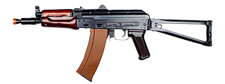 E&L AKS74UN AIRSOFT AEG W/ FOLDING STOCK - PLATINUM (BLACK)