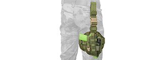Flyye Industries Tactical Drop Leg MOLLE Pistol Holster (OD GREEN)