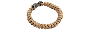 FLYYE INDUSTRIES MIL-SPEC PARACORD SNAKE WEAVE BRACELET - COYOTE BROWN