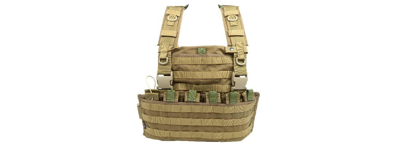 FLYYE INDUSTIRES 1000D CORDURA WSH MOLLE CHEST RIG (COYOTE BROWN)