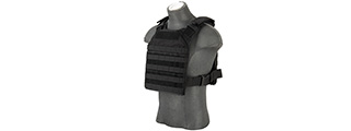 Flyye Industries 1000D Cordura MOLLE PC Plate Carrier (MED) (BLACK)